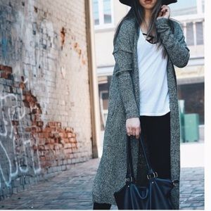 Silence + Noise long duster open front cardigan